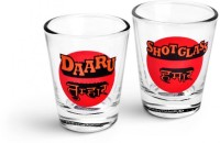 Happily Unmarried Bhojpuri Kitchen Shot Glass (30 Ml, White, Pack Of 2)