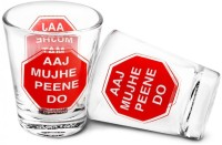 Happily Unmarried Mat Roko Kitchen Shot Glass (30 Ml, White, Pack Of 2)