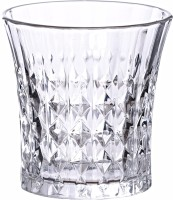 PRAX GS102 Cut Seamless Crystal Touch Glass Tumbler (300 Ml, Clear, Pack Of 6)
