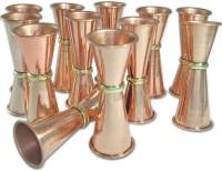 Dungri India Craft MJigger003-12 (600 Ml, Gold, Pack Of 12)
