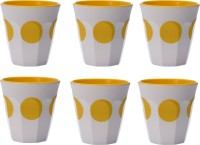 Superware Tumbler Set-Dot FLK041 (300 Ml, Yellow, White, Pack Of 6)