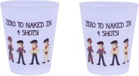 The Crazy Me Zero To Naked In 4 Shots Set Of Shot Glasses (50 Ml, Clear, Pack Of 2)