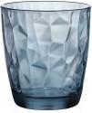 Wonderchef Bormioli Diamond Aqua Glass 8004360065022 - 305 Ml, Blue, Pack Of 2