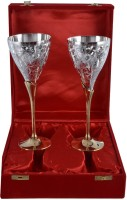 The Art Box Gold And Silver Plated Set Of 2 Glass TAB537A (200 Ml, Gold, Silver, Pack Of 1)
