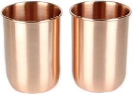 Kalpaveda Copper Glass Set of 2