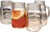 Its Our Studio Mason Jar Without Lid (470 Ml, Clear, Pack Of 4)