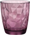 Wonderchef Bormioli Diamond DOF Glass 8004360065435 - 390 Ml, Purple, Pack Of 2