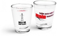 Happily Unmarried Dilli Kitchen Shot Glass (30 Ml, White, Pack Of 2)