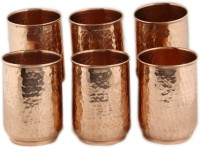 Kalpaveda Copper Glass Set Of 6 Pcs For Ayurveda Healing (200 Ml, Brown, Pack Of 6)