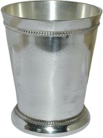 Prisha India Craft Designer High Quality Silver Coating Tumbler For Gift Glass033 (300 Ml, Silver, Pack Of 1)