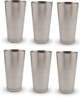 Dynamic Store Classy Mocktail / Lassi Glasses Large DS_179 (750 Ml, Steel, Pack Of 6)