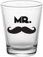10 Am Mr. & Mrs. Shot Glasses (60 Ml, Black, Pack Of 2)