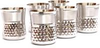 Jk Vallabhdas Stainless Steel Glass Mathar Design (Pack Of 6) (150 Ml, Steel, Pack Of 6)