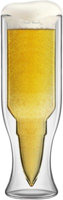 Emerge Double Glass Bullet Cup - L (300 Ml, Clear, Pack Of 1)