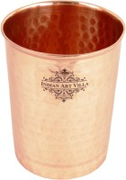 Indian Art Villa Handmade 100% Pure Copper Glass Cup (300 Ml, Brown, Pack Of 1)