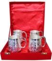 Dekor World Beer Glass DWDT-319 - 100 Ml, Silver, Pack Of 4
