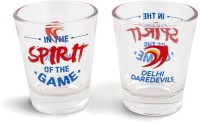 Happily Unmarried Spirit Of The Game Shot Glass -Delhi Daredevils (30 Ml, White, Pack Of 2)