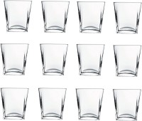 Pasabahce GP/CARRE WHISKY GLASSES (310 Ml, Clear, Pack Of 12)