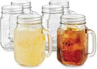 Its Our Studio Classic Mason Jar Without Lid (480 Ml, Clear, Pack Of 6)