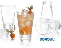 Borosil York Tumblers - 270ml Set Of 6 (270 Ml, Clear, Pack Of 6)