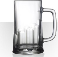 Velik Beer Mug Tudor D111V195K005S0PMUG (675 Ml, Clear, Pack Of 6)