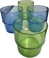 Tupperware Preludio Tumbler Green And Blue (250 Ml, Green, Blue, Pack Of 4)
