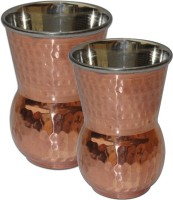 King International King-International Copper And Drinking Glass Set Of 2 Pcs KI-CG-S2-12 (250 Ml, Brown, Pack Of 2)