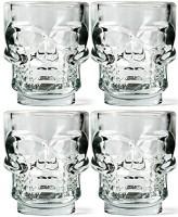Circleware Clear Skull Shot Glass 51ml (51 Ml, Clear, Pack Of 6)