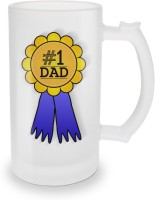 SKY TRENDS No.1 Dad A Special And Best Occassion Unique Gifts For Dad Happy Father's Day Glass Beer Mug (500 Ml, Multicolor, Pack Of 1)