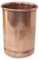 Prisha India Craft Ayurveda Healing Drinkware Copper Tumbler Glasses Glass_014 (350 Ml, Gold, Pack Of 1)