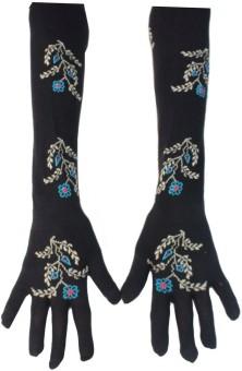 Romano Designer Long Hand Floral Print Evening Women's Gloves