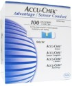Accu-Chek Sensor Comfort Test Strips - 100 Glucometer