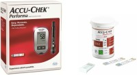 ACCU-CHEK Performa Meter With 50 Strips Glucometer (Black ,gray)