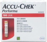 Accu-Chek Performa Strips 100 Tests Glucometer (White, Red)