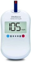Johnson & Johnson One Touch Select Simple Glucometer (White)