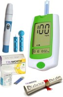 Truworth G-30 French Green + 25 + 50 Strips + 1 Free Diet Plan Glucometer (Green)
