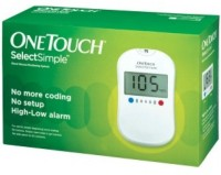 Johnson & Johnson One Touch Simpleselect Glucometer (White)