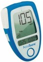 Accu Sure Glucose Monitor With 35 Strips Glucometer - Blue