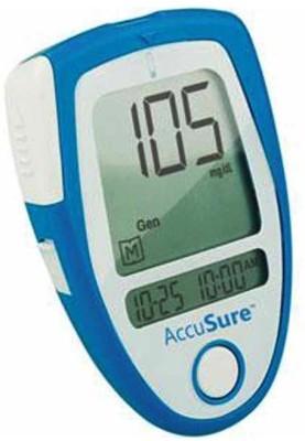 Accu Sure Glucose Monitor with 35 Strips Glucometer Blue