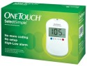 Johnson & Johnson One Touch Select Glucose Monitor with 10 Strips Glucometer - White