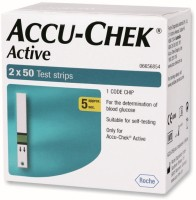 Accu-Chek Active Test Strips - 100 Glucometer (Red)