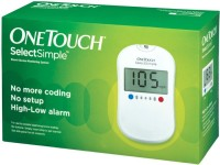 Johnson And Johnson One Touch Select Simple Glucose Monitor With 100 Strips Glucometer (White)