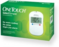 Johnson And Johnson One Touch Select Simple Glucose Monitor With 75 Strips Glucometer (White)