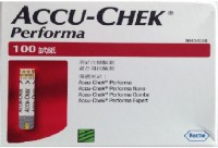Accu-Chek Performa 100 Test Stips For Performa Glucometer (Red)
