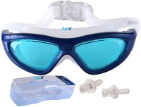 TAG3 (TM) Premium Quality UV Shield Anti Fog With Ear Plugs And Hard Outer Box BIG Swimming Water Sports Goggles (Blue)