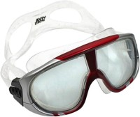 Viva Sports Viva 400 Diving Mask Swimming Goggles (Red, Silver)