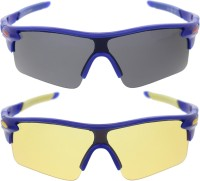 Vast Pack Of All Sports And Driving UV Protection Wrap Around Smart Cricket Goggles (Blue) - GOGEH9MQRDZGSZVV