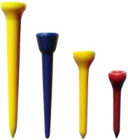 Golfoy Plastic Golf Tees (Pack Of 80, Red, Blue, Yellow)