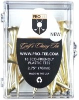 PROTEE Golf Tees Golf Tees (Pack Of 16, Gold, Satin)