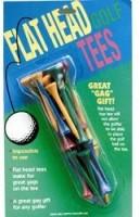 Golf Gifts & Gallery Flat Head Tees Golf Tees (Pack Of 12, Multicolor)